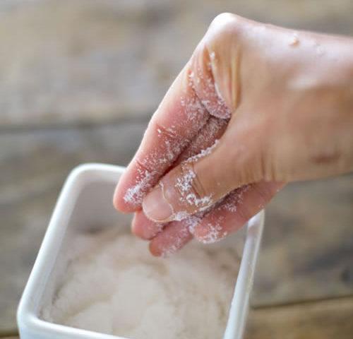 熟成干潟天日塩をお料理に